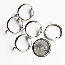 Nickel 5 cent USA Coin Holder Rim Setting Bezel Nailhead Prong Nickel Plate Pk10