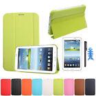 Coque Étui En Cuir Pour Samsung Galaxy Tab 3 7.0 T210 T211+Film +Stylet élégant