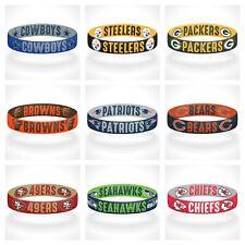 Reversible NFL Team Mascots Bracelet Stretch Bracelet NFL Wristband