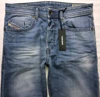 Mens DIESEL Buster Jeans W29 L32 Blue Regular Slim Tapered Wash 0842H_STRETCH