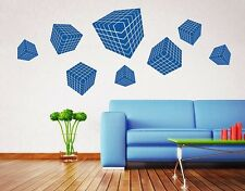 3D Dices - Highest Quality Wall Decal Stickers