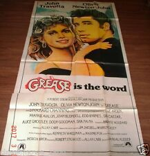 "GREASE (1978) JOHN TRAVOLTA THREE 3 SHEET POSTER 40"" X 79"""