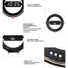 Schwarz Digital Uhr Wanduhr Wohnzimmeruhr Bürouhr LCD Display