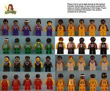 Custom Print minifigure Nba Choice of Any Team Warriors Lakers Raptors