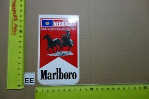 Alter Aufkleber Zigaretten Motorsport MARLBORO USA Country-State 1982 NEBRASKA