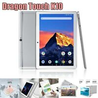 """Dragon Touch K10 10.1"""" HD Quad Core Android Tablet 16GB WiFi HDMI FM Refurbished"""