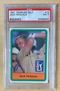 1981 Donruss Golf Jack Nicklaus #13 Rookie PSA 7 Near Mint RC