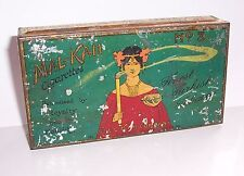 Uralte Cigaretten Blechdose Mal-Kah Cigarettes Berlin lithografiert um 1910 !