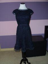 NWOT Adrianna Papell Floral Dress SZ.8P Black