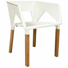 Elkton Modern Accent Chair With Wooden Frame in White