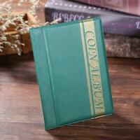 10 pages/120 pockets Coins Album Collection Book Commemorative Coin Holders Gift