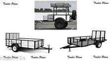 (3 Sets)Trailer Plans 4x6 Off Road - 6x12 Utility - 5x10 Utility Trailers. #1