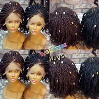 Handmade African Braided Kinky wigs