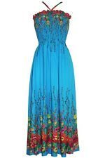 Women Sexy Blue Cotton Maxi Casual Dresses Holiday Beach dress, One Size 8/12