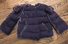 RED VALENTINO PURPLE SILK DOWN VELVET PUFFER JACKET COAT CROPPED SIZE 40 / 2 - 4