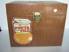 Vintage Wood Grain Metal File Box With Key Porta File Ballonoff XXL
