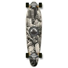 Punked Black & White New York city Graphic COMPLETE Longboard kicktail boards