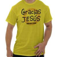 Gracias Jesus Christ Christian Religious God Short Sleeve T-Shirt Tees Tshirts