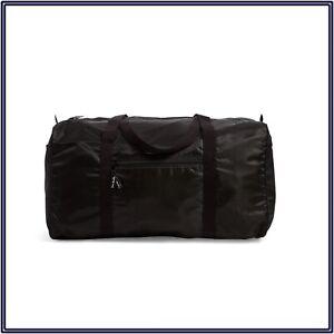 NWT Vera Bradley Packable Duffel Bag Weekender Travelerer Gym in Black