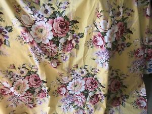 Ralph Lauren yellow sophie brooke floral 2 PLUS  YARDS FABRIC