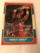 CHARLES BARKLEY 1986-87 FLEER SIXERS #7 ROOKIE RC HOF NBA SET BREAK MINT+ +