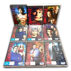 Smallville TV Series DVD Set Seasons 1 2 3 4 5 6 7 8 9 - Region 4 VGC