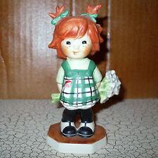 1963 Goebel Red Heads Figurine Dropping In Charlot Byj Flowers Girl