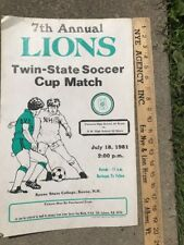 1981 Keene State University Soccer Match Poster - Good Condition