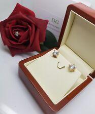 18K Oro Acabado DG creado diamante pendientes de una claridad excelente Oferta Especial 6mm