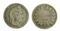 s392_1) FRANCIA  Luigi Filippo I - 5 Franchi 1832 A Kr. 749.1 AG Contromarca P