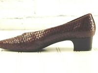 ENZO ANGIOLINI Women's Camel Brown Woven Leather Slip On Comfort US 7.5M EU 38