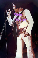 ELVIS PRESLEY IN RED EAGLE SUIT HUNTSVILLE AL 5/3/75 CONCERT TOUR PHOTO CANDID