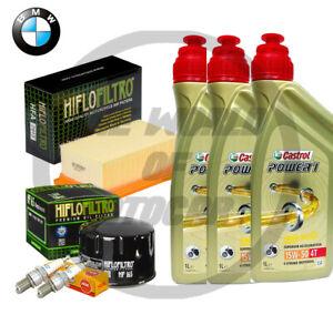 KIT/TAGLIANDO BMW F/800/ST 2006/2010/2011 CASTROL 15W50 FILTRO OLIO ARIA CANDELE