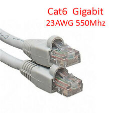6Ft Cat6 UTP RJ45 8P8C 23AWG 550Mhz Gigabit LAN Ethernet Network Patch Cable