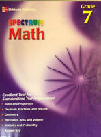 Starburst Spectrum Workbook: Spectrum Math, Grade 7: Lightly Used