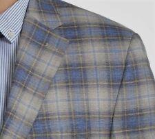 Lauren Ralph Lauren Blazer Size 48R Men Suit Jacket Coat Blue Windowpane EU 58R