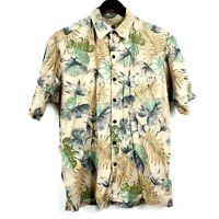 Tori Richard Mens Small Button Up Hawaiian Shirt Camp Short Sleeve Floral Cotton