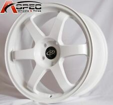 WHITE 17X9 +42 ROTA GRID 5X100 WHEELS FIT SCION TC FR-S GT86 BRZ WRX NEON SRT 4