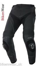 Alpinestars Missile Leather Motorcycle Pants Black - Short Leg
