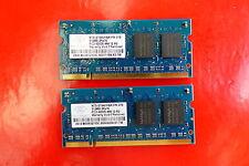 1GB (2 x 512MB) Nanya PC2-4200 533MHz 200Pin DDR2 Laptop Ram Memory