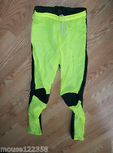 Cyclewear pants Neon green nylon spandex size medium