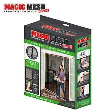 Magic Mesh Double Door - Hands Free Magnetic Screen Door For 75 in x 83 in Doors