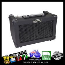 STRAUSS SBA-S0FX STREETBOX 20 WATT SOLID STATE RECHARGEABLE DC AMPLIFIER BLACK