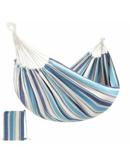 Best Choice Products 2-Person Brazilian-Style Cotton Double Hammock Bed - Ocean