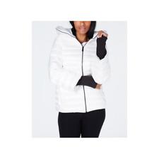 Calvin Klein Womens Down-Filled Hooded Puffer Jacket White Size Medium