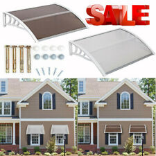 Outdoor Front Door Window Awning Patio Canopy Rain Cover Protected Eaves Kf
