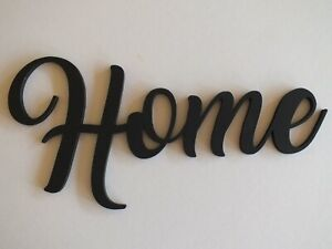 Black Wooden Modern Home Wall Sign  29 cm