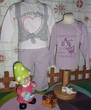 vêtements occasion fille 18 mois,sweat,pantalon velours,pull