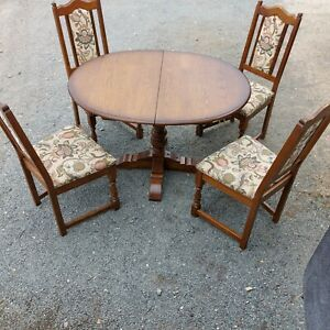 Old Charm Aldeburgh oval Extending dining Table And four Chairs