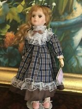 """Genuine 16"""" Bisque Porcelain Collectors Doll Is Of Classical Treasure Collection"""